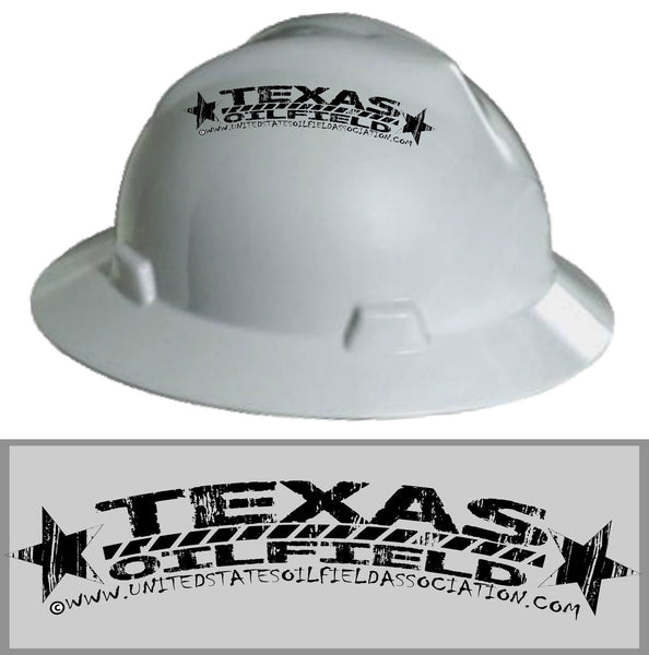 Hard Hat Decals - Texas Oilfield Hard Hat Decal