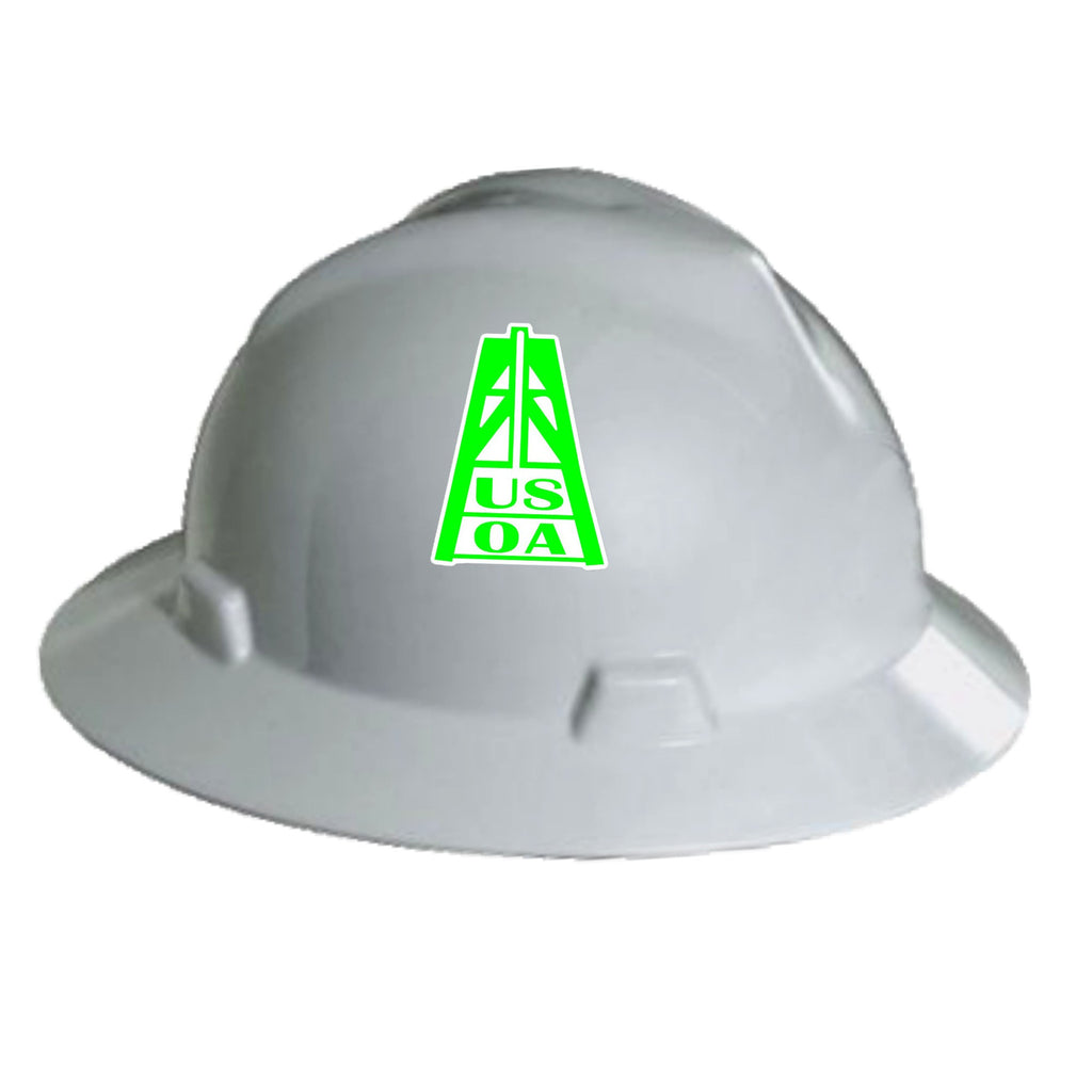 Hard Hat Decals - USOA Rig Hard Hat Decal