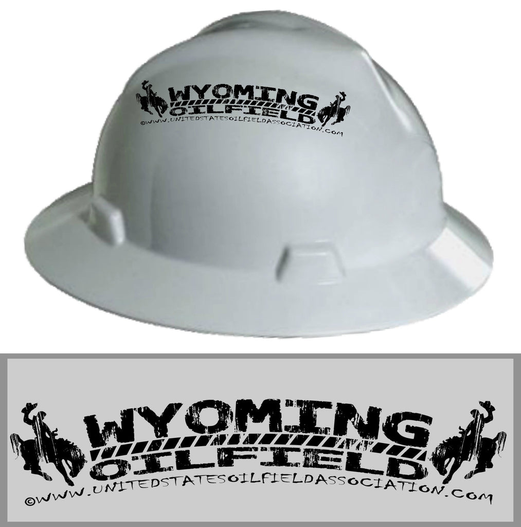 Hard Hat Decals - Wyoming Oilfield Hard Hat Decal