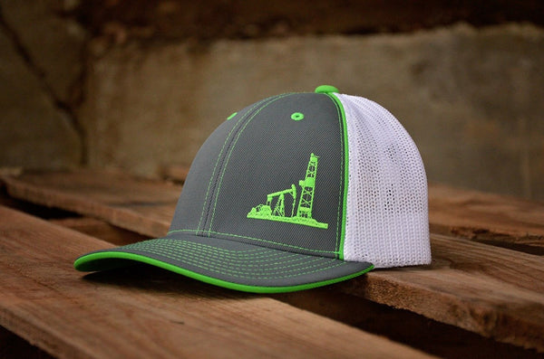 Hats - Lime Green Oilman Hat