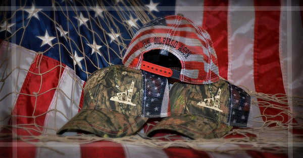 Hats - Limited Edition AMERICAN FLAG Oilman Caps