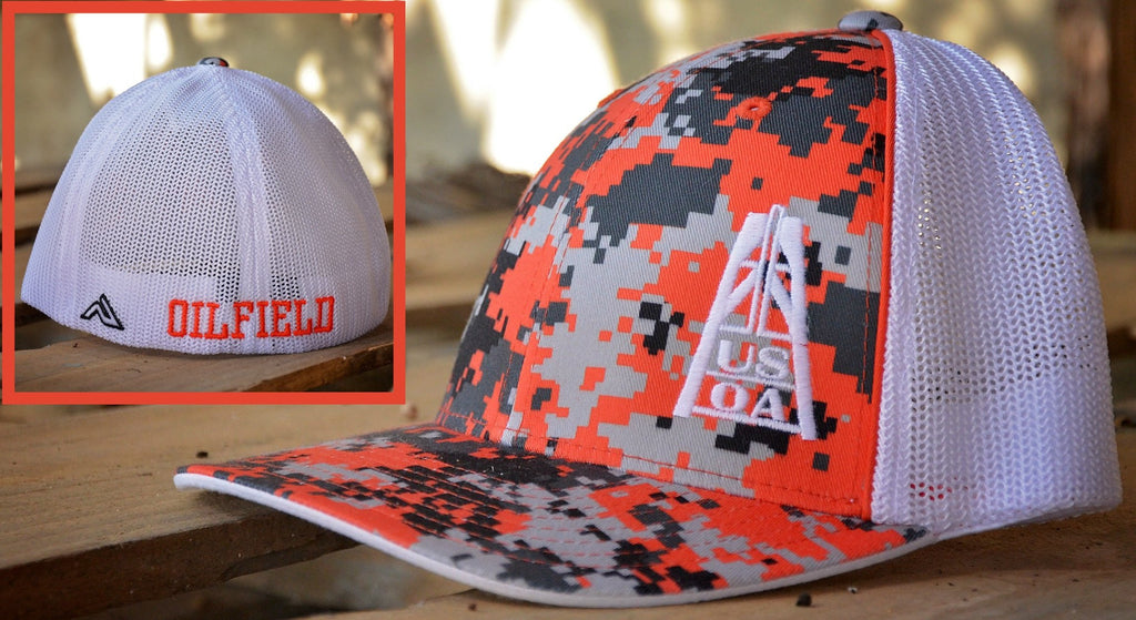 Hats - Orange Digital-Camo USOA Hat