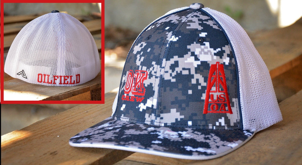 Hats - TX, OK & USOA Rig Navy Digital Camo Hats