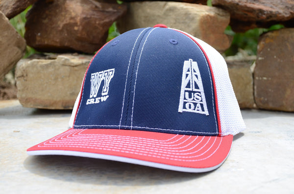 Hats - Wyoming Crew Member Hat (Red, White & Blue)