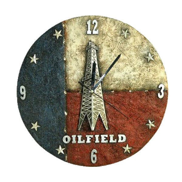 "Home Decor - Texas ""OILFIELD "" Wall Clock"