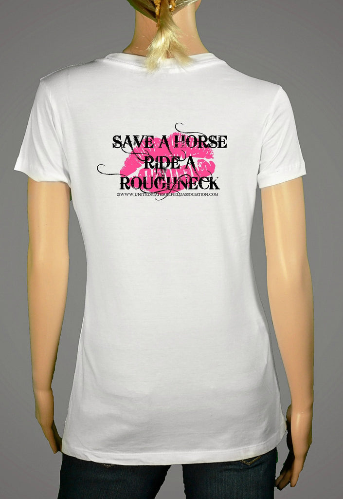 Short Sleeve T-Shirts, Long Sleeve T-Shirts, & Hoodies - Save A Horse Ride A Roughneck (Ladies)