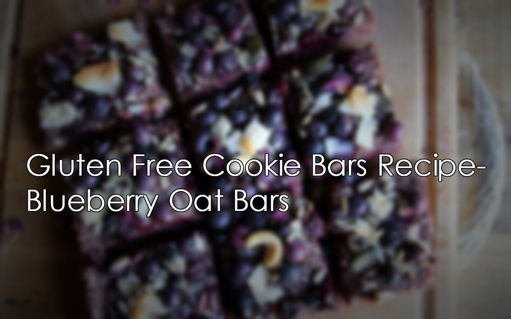 Gluten Free Cookie Bars Recipe- Blueberry Oat Bars
