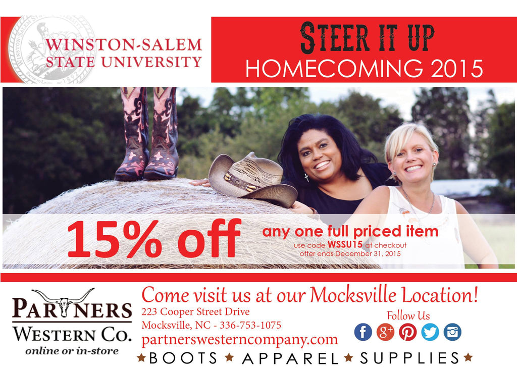 Homecoming Weekend at Winston-Salem State University 15% Off sale