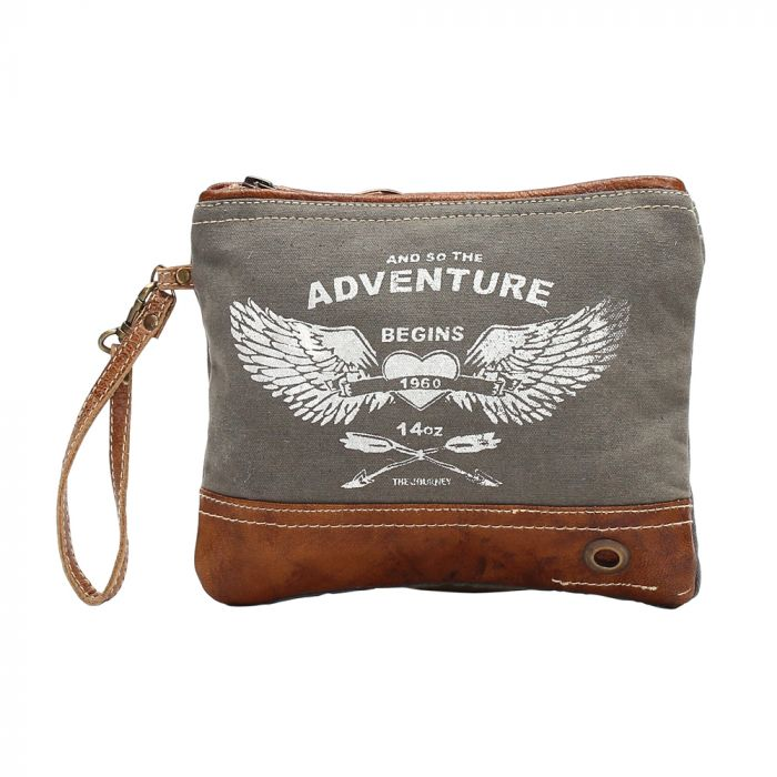 ADVENTURE BEGINS SMALL BAG BY MYRA BAG