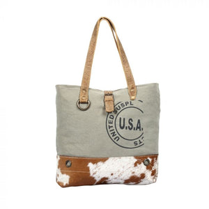 USA STAMP TOTE BAG BY MYRA BAG