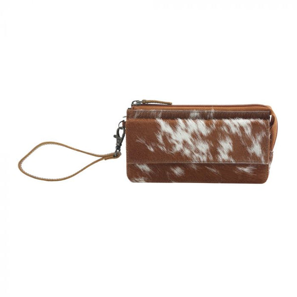DEBATABLE LEATHER AND HAIRON WALLET BY MYRA BAG