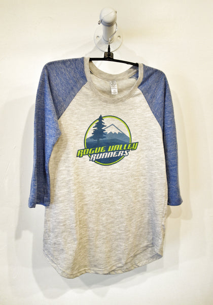 Ladies Rogue Valley Runners Baseball Eco-Jersey 3/4 Tee