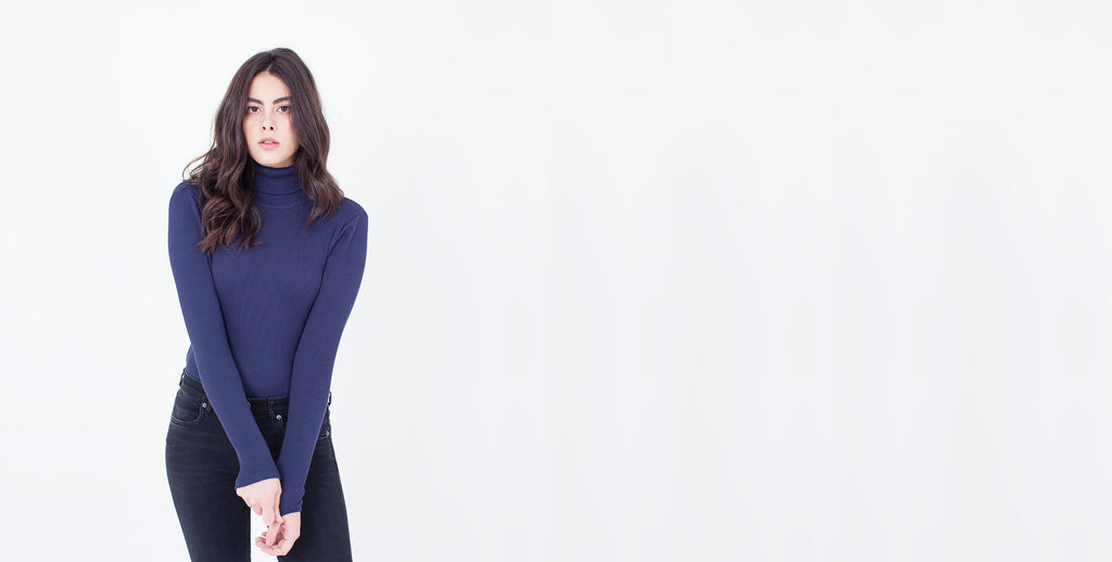 Anorí Turtleneck Navy Blue