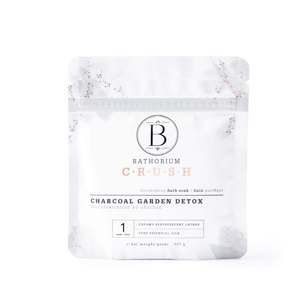 Charcoal Garden Detox CRUSH Crush Bath Soak Bathorium 120g (1 Bath)