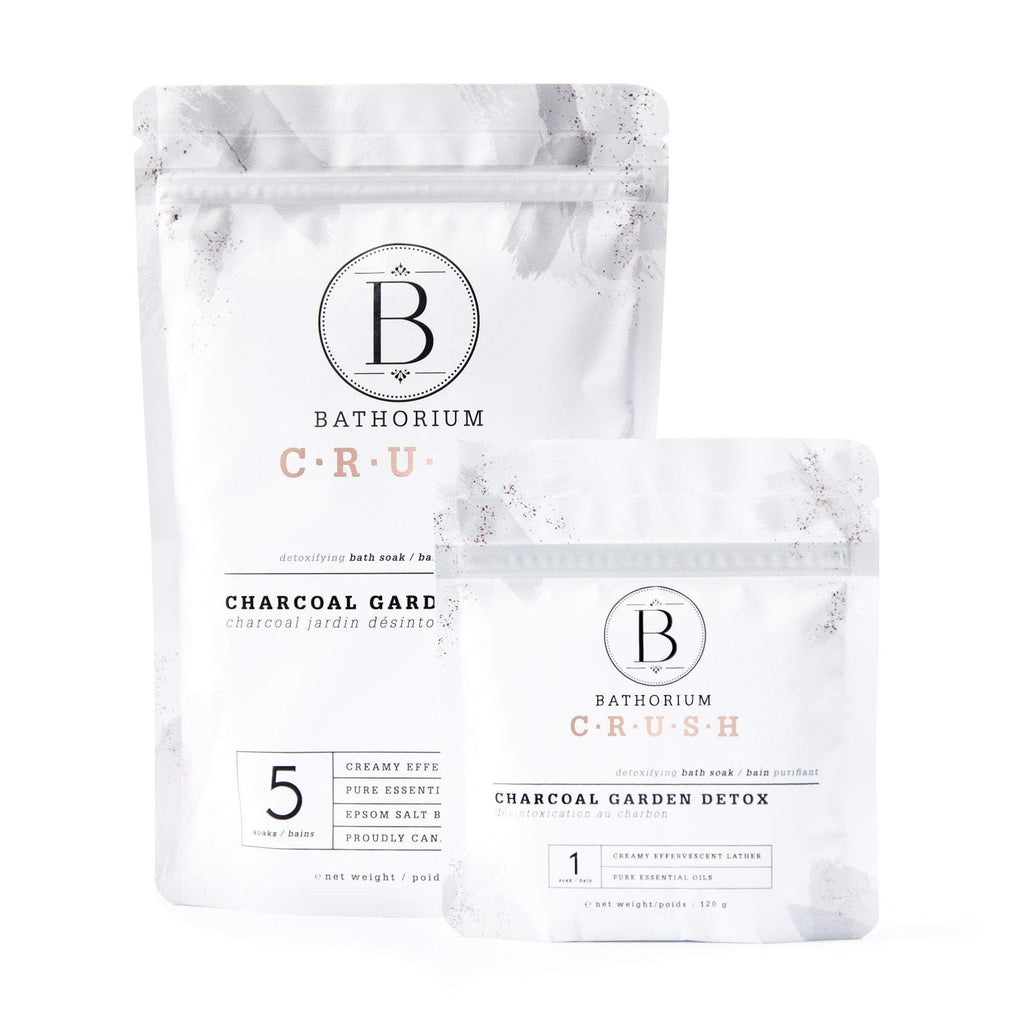 Charcoal Garden Detox CRUSH Crush Bath Soak Bathorium