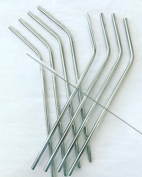 Short Run Bent Metal Straw Single