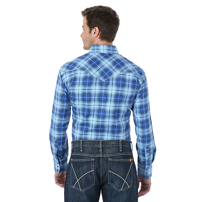 Wrangler FR Plaid Snap Shirt - FR137BL