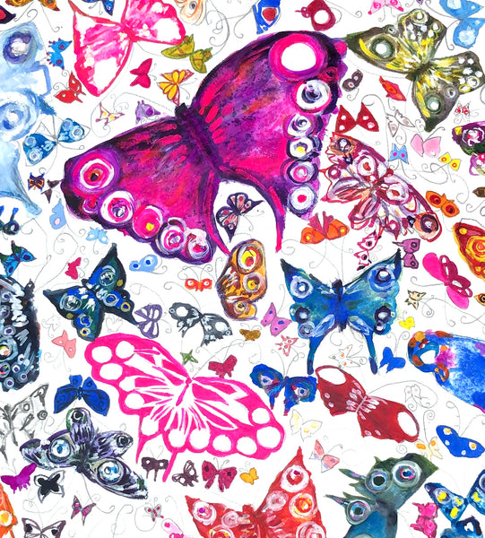 Detail of Butterfly Painting donated to the Vincent Square Eating Disorder Service