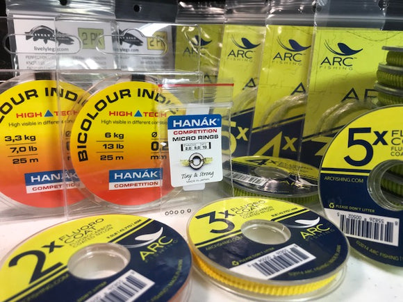 Tippet, Tippet Rings, Leaders, and Sighter Line
