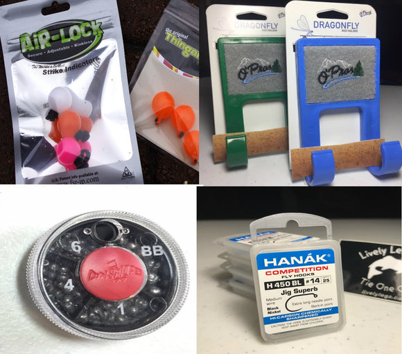 Indicators, Sighter Line, Hooks, Shot, Fly Tying Materials, Leaders, Beads, and Much More!