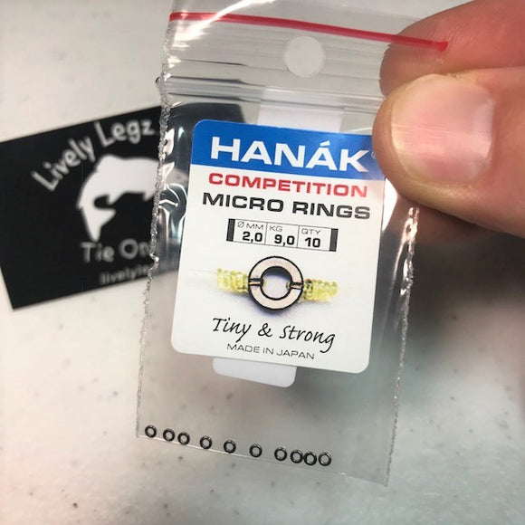 Hanak Micro Rings 10 Pack (Tippet Rings 2mm)