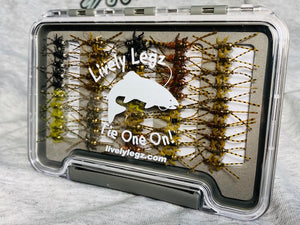 Lively Legz Barbless/ Tungsten Double Trouble Box (Preloaded with 50 Flies)