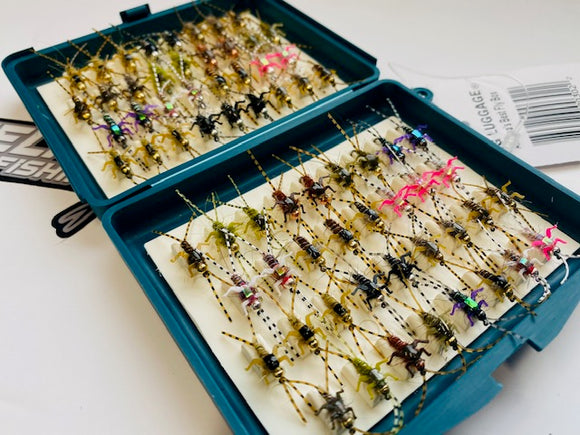 Lively Legz Bug Luggage Barbless/ Tungsten Double Trouble Box (Preloaded with 68 Flies)