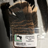 Cinnamon Tip Turkey Tail Feathers (2 Pack)