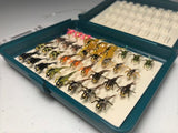 Bug Luggage Small Box Half Full (34 Flies @ approximately 1.30/fly)