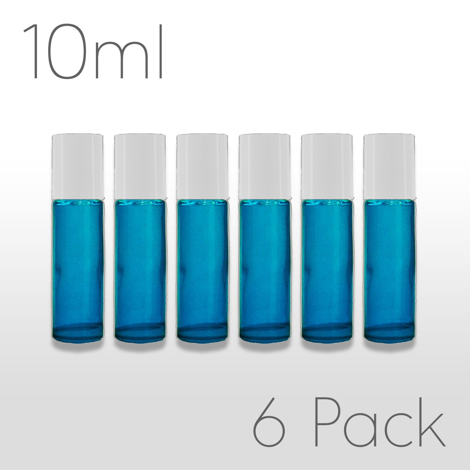 Teal 10 ml Roller Bottles - Set of 6
