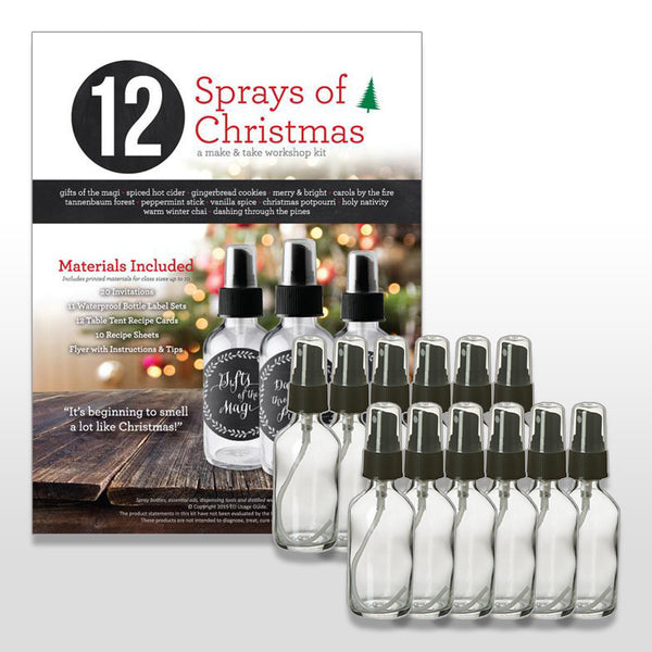 12 Sprays of Christmas Make & Take Kit BUNDLE w/ 2 oz Bottles