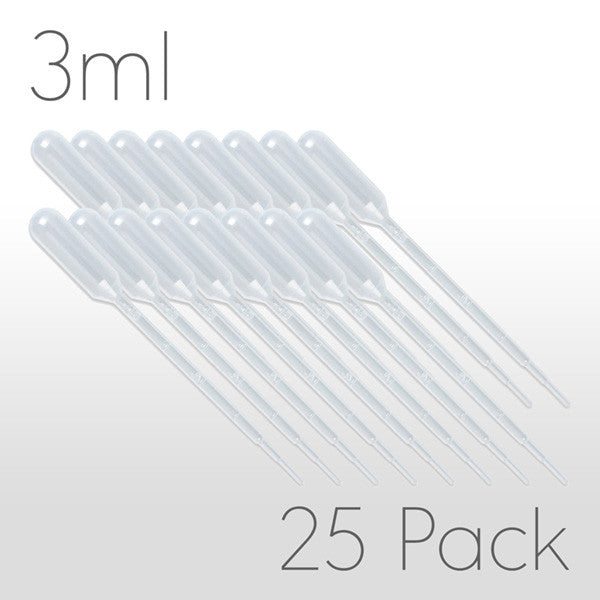 3ml Disposable Pipette - 25 Pack