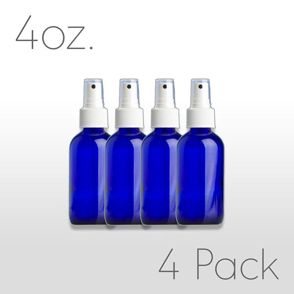 4oz Cobalt Blue Bottle w/Pump Sprayer (4 pack)