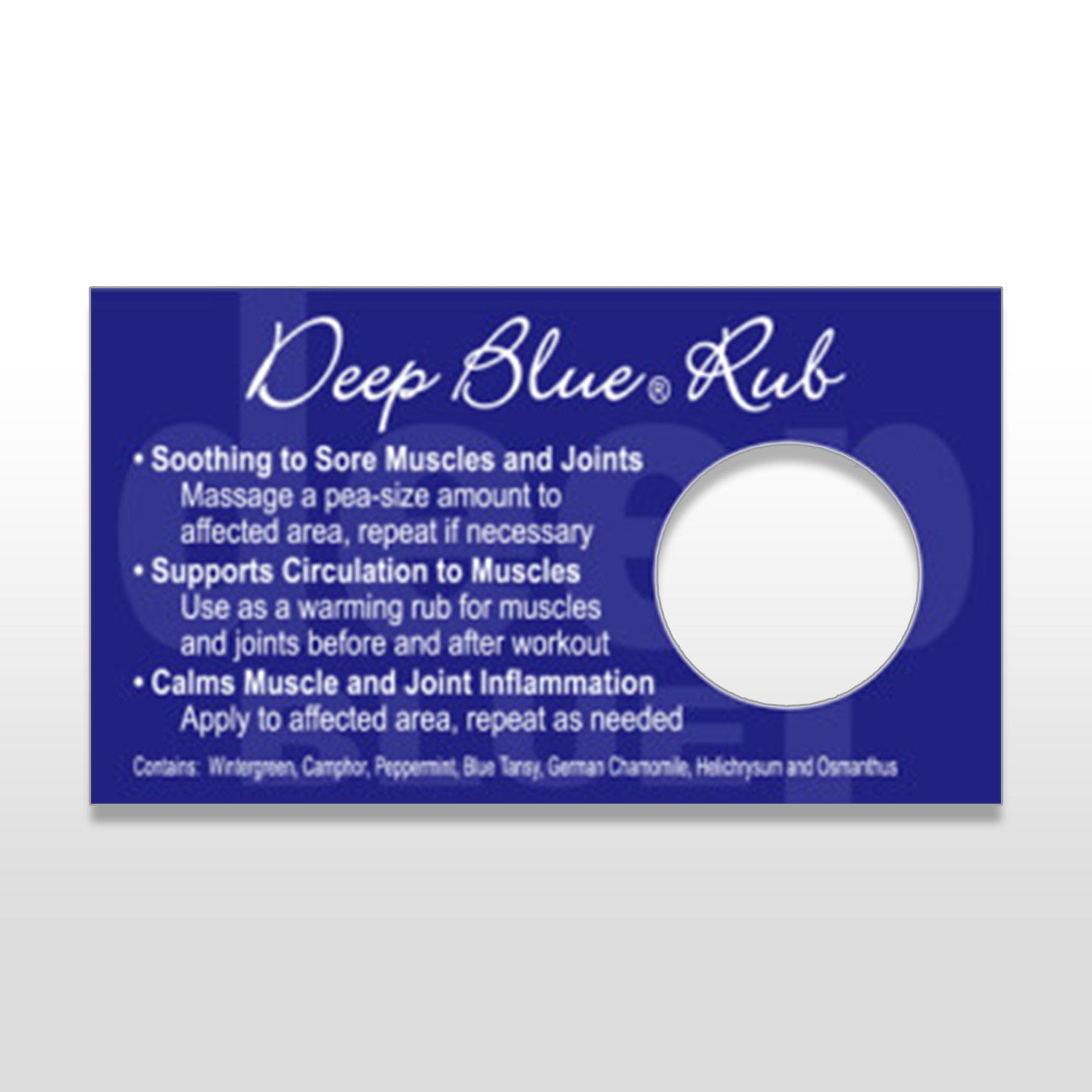 Deep Blue Rub Sample Set