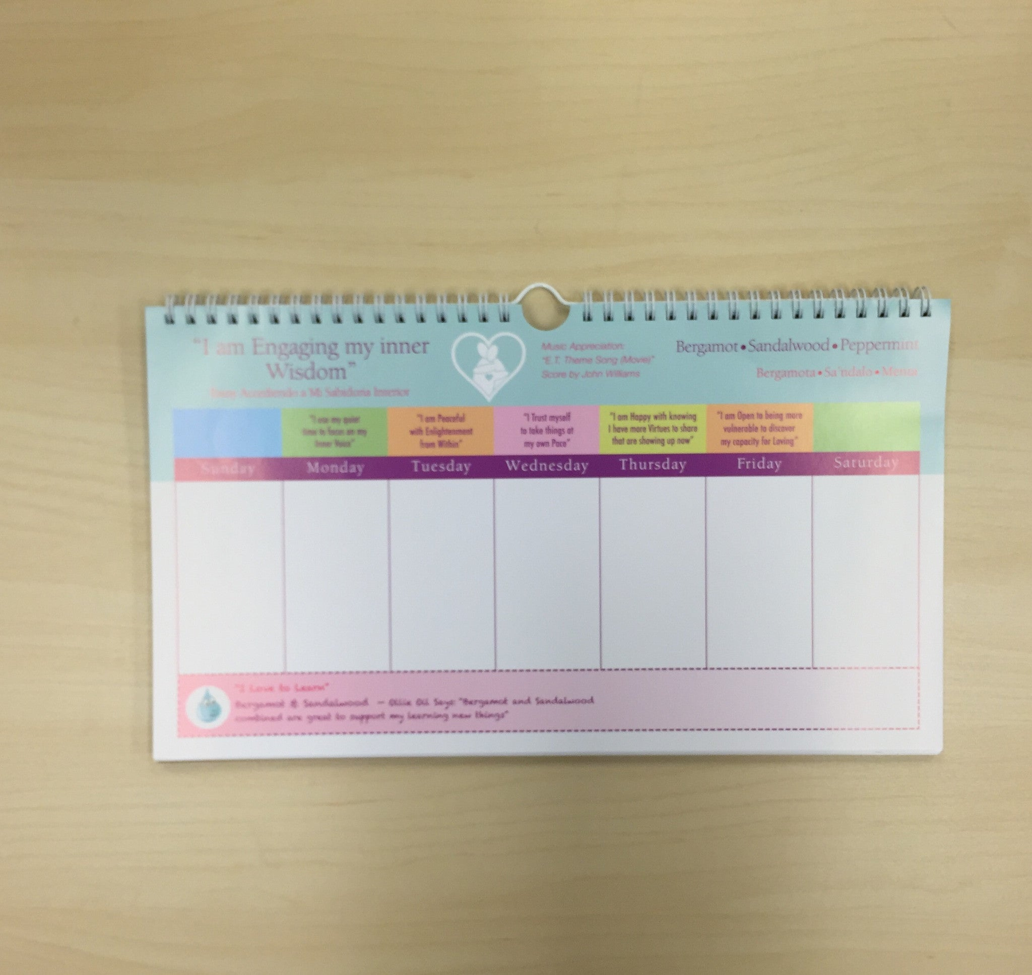 Personal Peaceful Growth Calendar