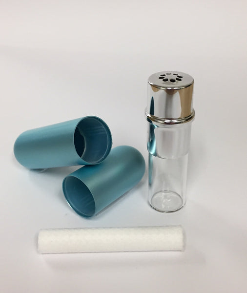 Aluminum Nasal Inhaler - Light Blue