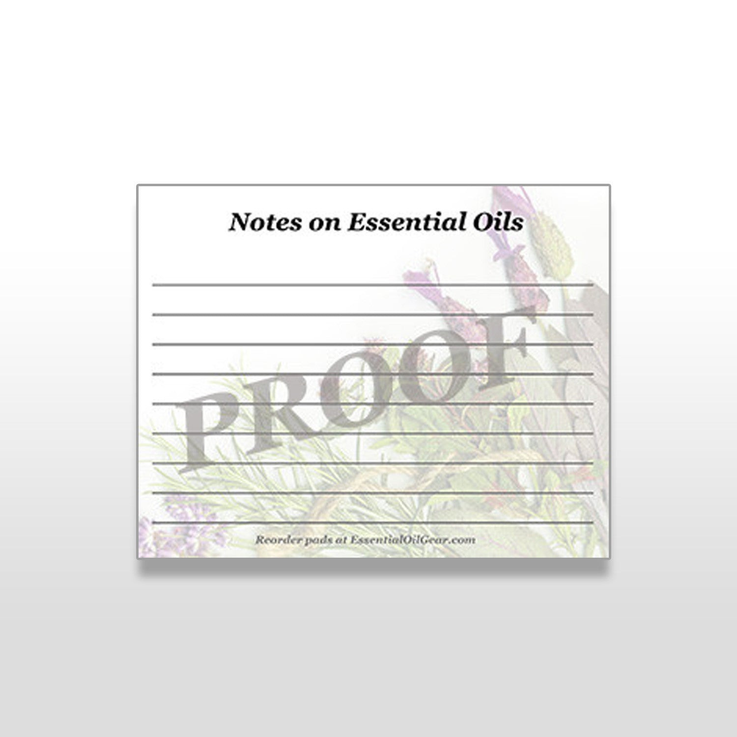 Essential Oil Notepads