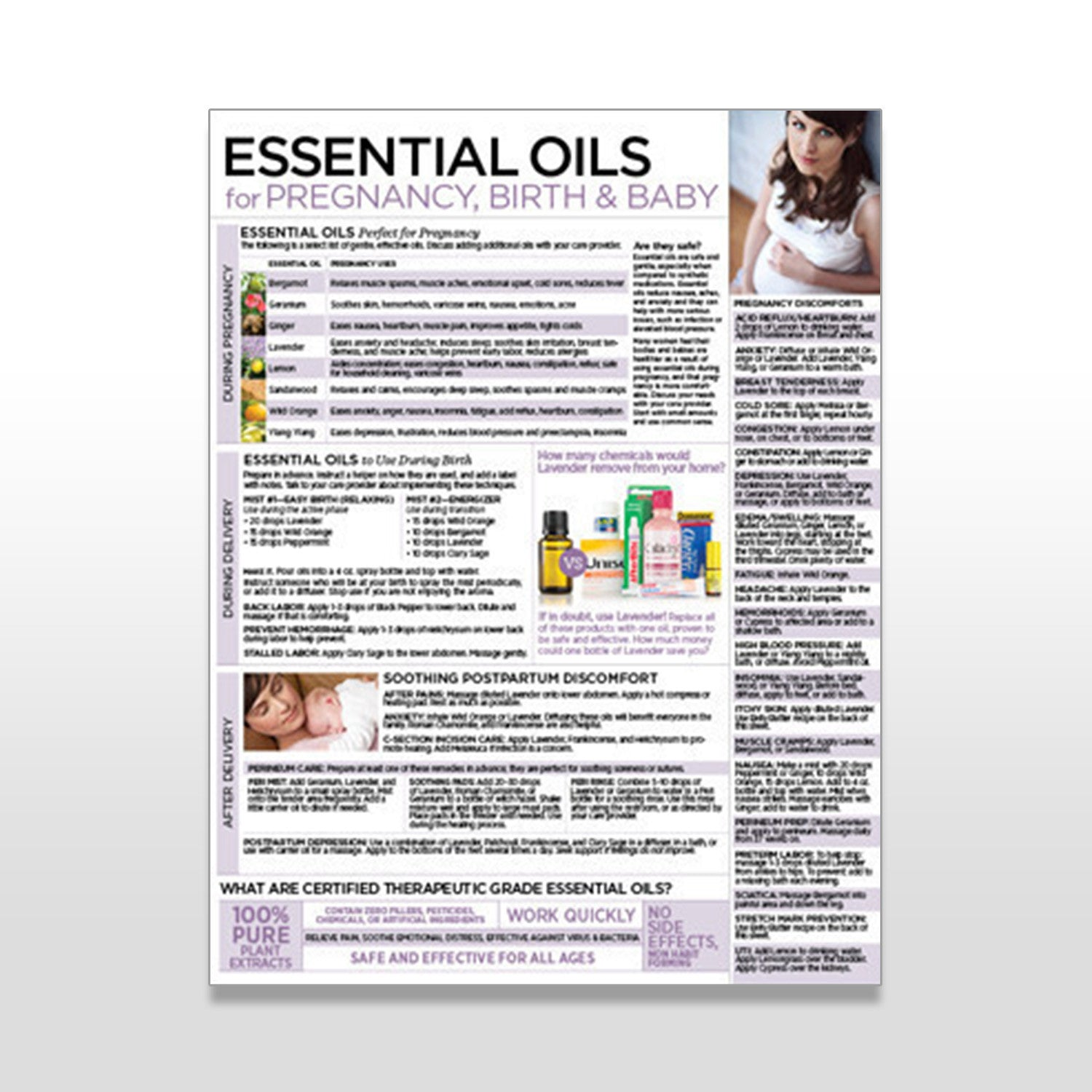 Essential Oils for Pregnancy, Birth & Baby - Tear Pad