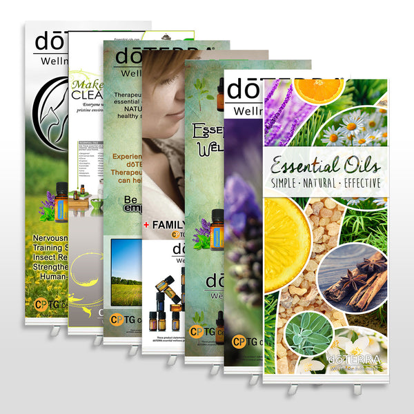 6.5' x 33 Roll up Banner with Stand