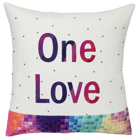 "Pillow ""One Love Banner"" in Multi"