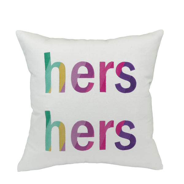"Pillow ""Hers/Hers"""