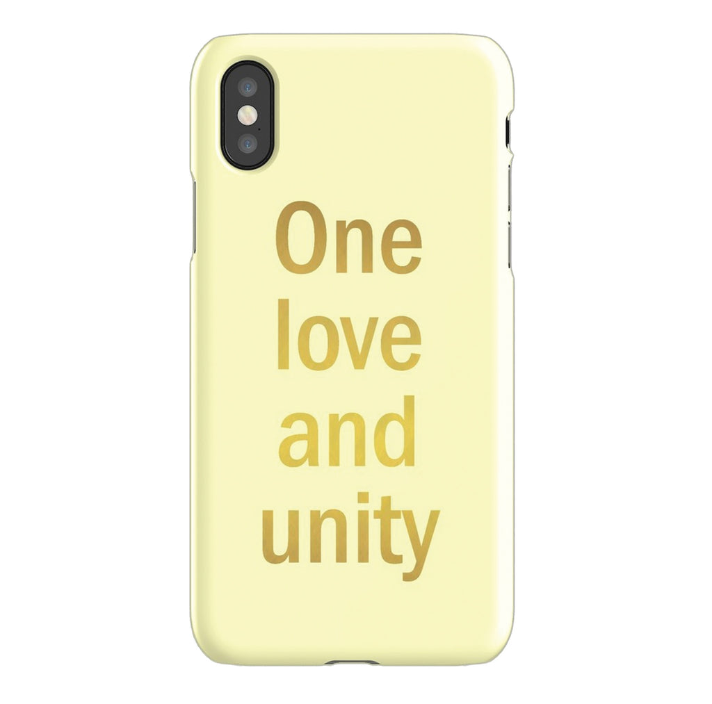 """One love and unity"" phone case"