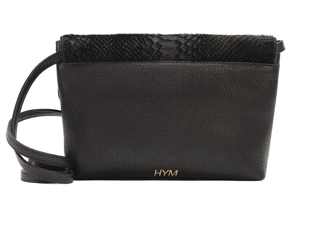 Permanent Collection Crossbody: Black w/ Embossed Python - Hymonline - 2