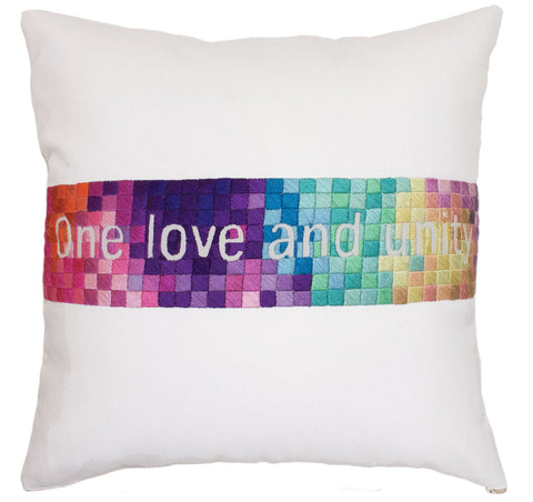 "Pillow ""One Love Rainbow"""