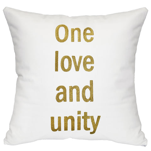 """One Love and Unity"" in Gold"
