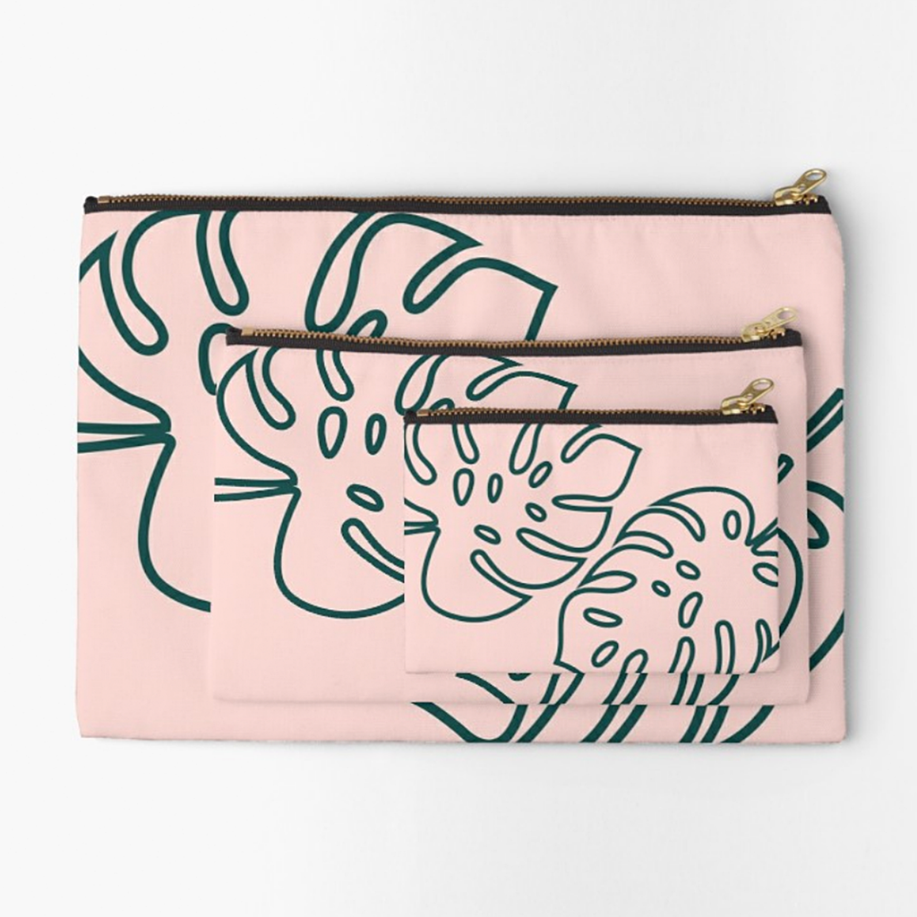 """Palm Leaves"" Studio Pouch"