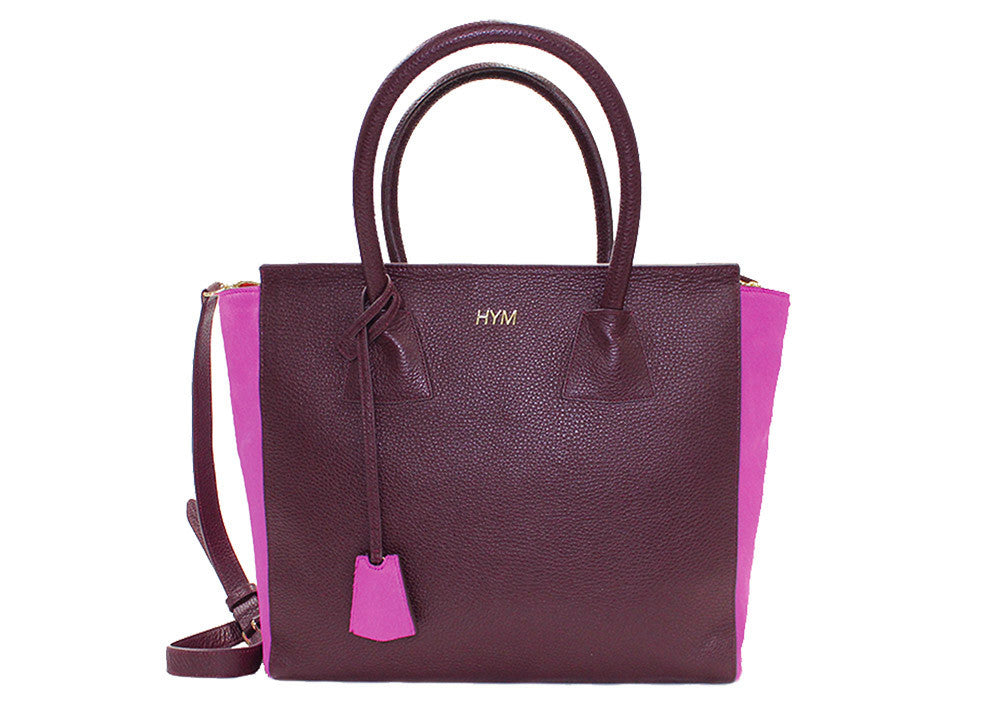 Permanent Collection Tote: Burgundy and Pink - Hymonline,  , HYM, Hymonline