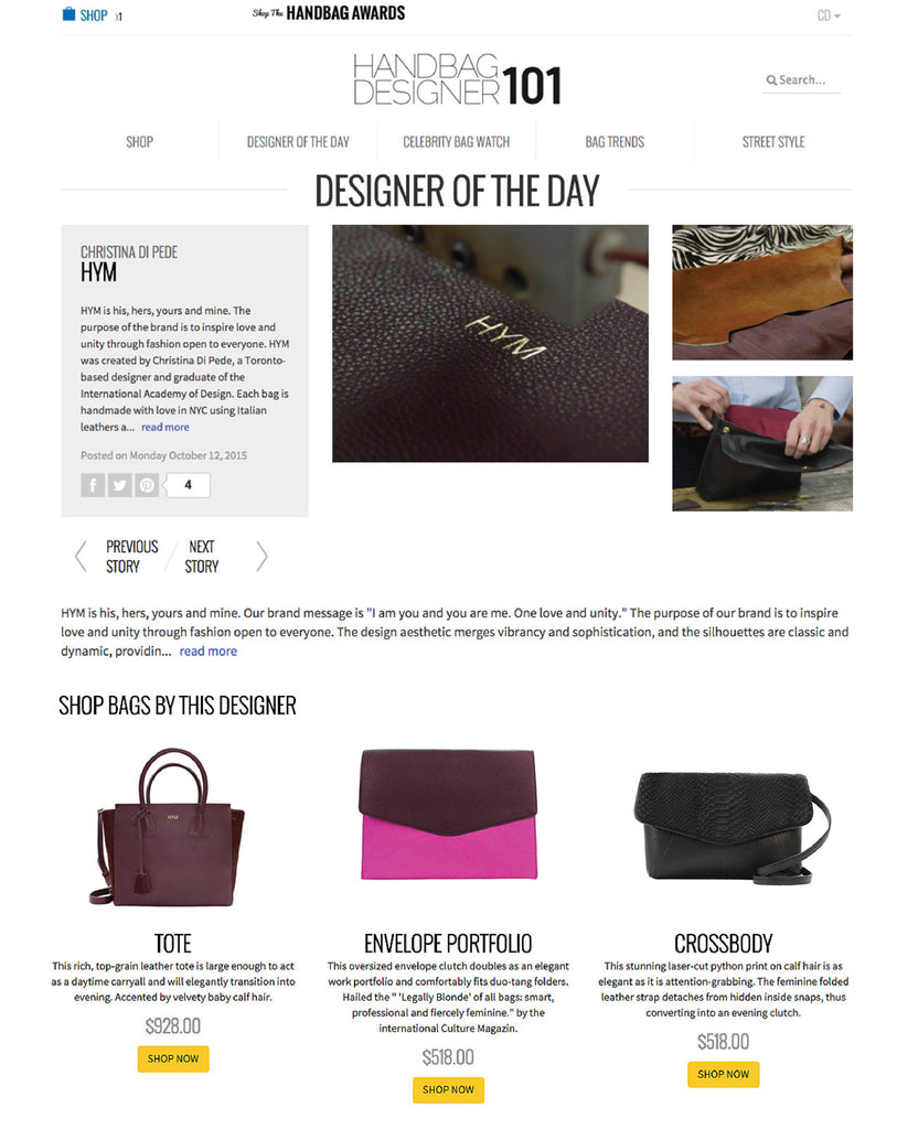 Handbag Designer 101's Designer of the Day - Hymonline,  , Hymonline, Hymonline
