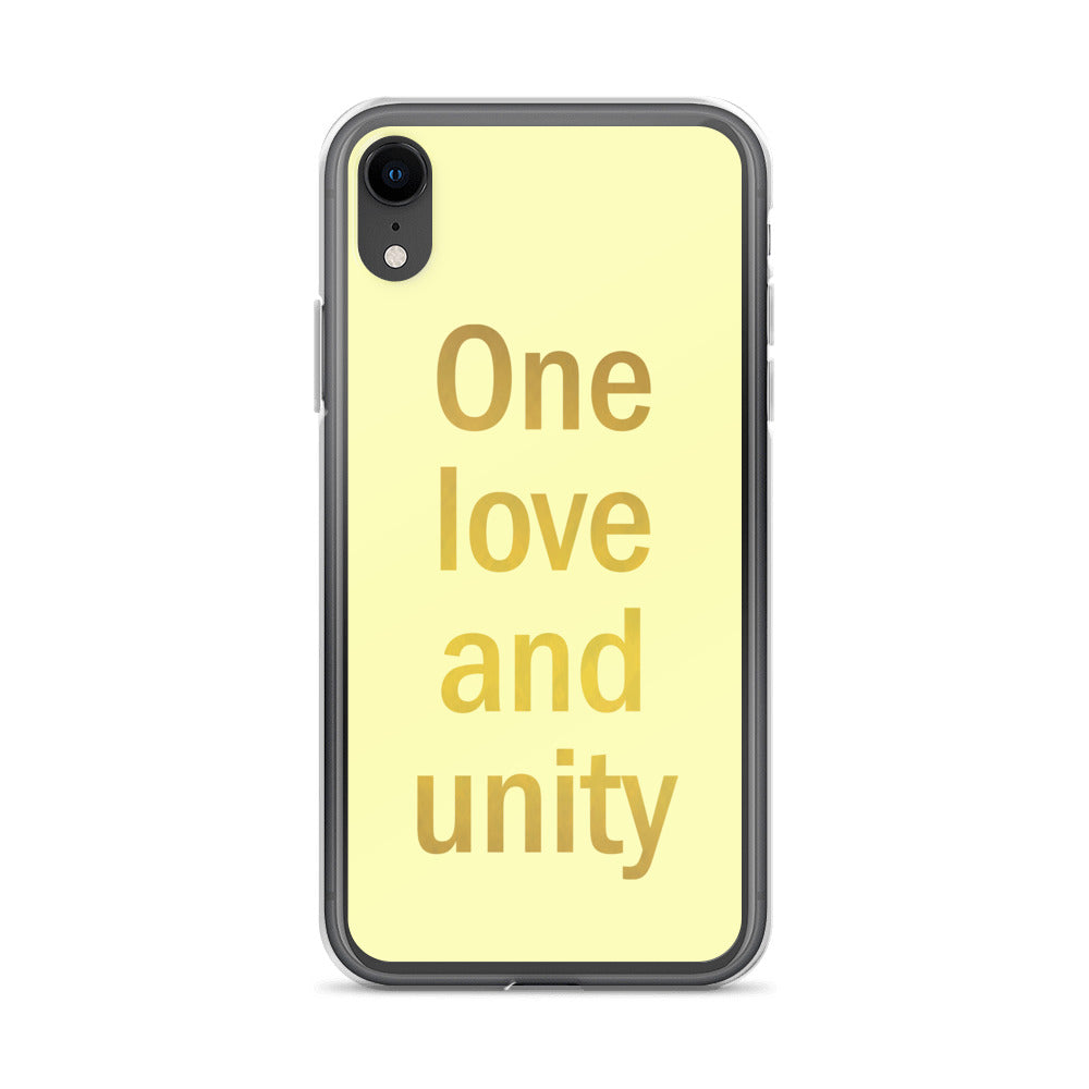 One love and unity iPhone Case