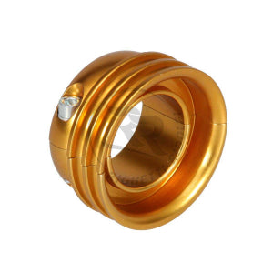 Aluminium Pulley for 50mm axle, Gold anodized